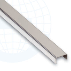 Профиль П-образный (225S-IB-15) алюминиевый 250 см, хром