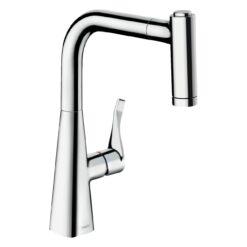 Metris M71 14834000 Кухонный смеситель однорычажный, 221 мм, с вытяжным душем, 2jet, хром