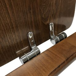 Retro 108840 Сиденье с крышкой для унитаза деревянное, крепления из нержавеющей стали, с функцией SoftClosing, петли хром