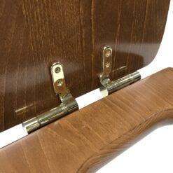 Retro 108740 Сиденье с крышкой для унитаза деревянное, крепления из нержавеющей стали, с функцией SoftClosing, петли золото