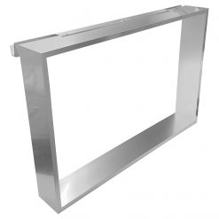 Frame R90AKFPO4070-B Полка подвесная на стекло 700*400*120 мм, с 4 крючками, серебристая